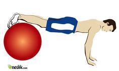 ejercicios para abdominales con pelota inflable