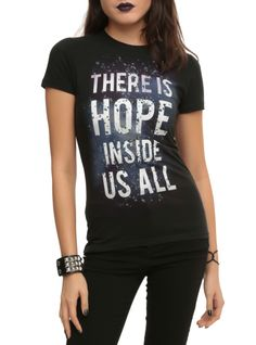 """Fitted tee from Insurgent with a """"There Is Hope Inside Us All"""" design."""