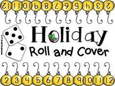 FREEBIE!!  Fun math game--students take turns rolling 2 die and cover the total number with a penny or other marker.  First one to cover all numbers on their side wins!  One sample from the Christmas FUN Pack from 1st Grade Pandamania store.