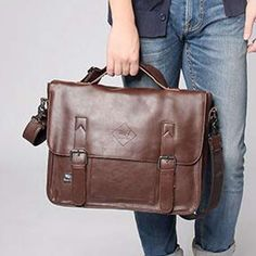POLO VICUNA Famous Brand High Large Capacity Leather Mens Business Men Leather Briefcase Bag