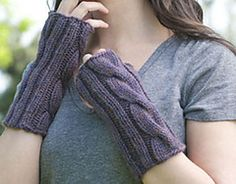 Ravelry: Cabled Mitts pattern by Cheryl Beckerich