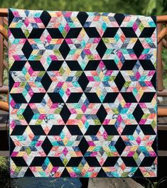 The August Stars quilt sewing pattern from Julie Herman of Jaybird Quilts. Create dazzling stars to light up the room like an August sky at night. Use an assortment of 2 History Of Quilting, Quilting Tips, Quilting Tutorials, Quilting Projects, Quilting Designs, Hand Quilting, Diy Projects, Quilt Square Patterns, Beginner Quilt Patterns