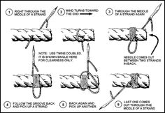 6 strand round knot - Google 검색