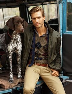 Sporty Classic is  best accessorized by a noble dog