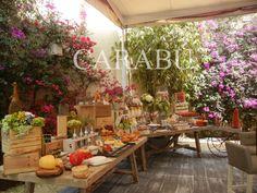 Mesa de quesos y dulces