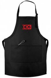 This extra long classic bib apron comes with adjustable neckband and 2 center pockets.