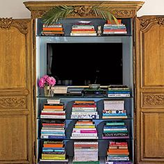 Small Space Organizing Tips | By the Television