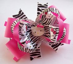 Kitty Boutique Hair Bow......so cute!!  I NEED a little girl!
