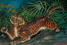 How Artists See Animals Wildlife Paintings, Animal Paintings, Animal Drawings, Monkey Illustration, Fantasy Illustration, Japanese Illustration, Art Tigre, Haitian Art, Art Populaire