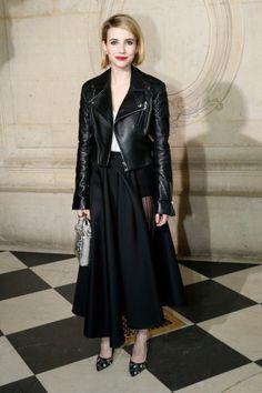 Emma Roberts au défilé Dior