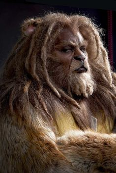 """monsters-werewolves: """" From """"The David Alan Grier as The Cowardly Lion in make up by Dave & Lou Elsey. You can read a full article about the make up used for the Lion as. Glinda The Good Witch, Wicked Witch, Cowardly Lion Costume, Bewitched Tv Show, Man Beast, Animal Makeup, Light Film, Art Poses, Film Aesthetic"""