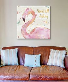 Love this Flamingo Fever III Gallery-Wrapped Canvas on #zulily! #zulilyfinds