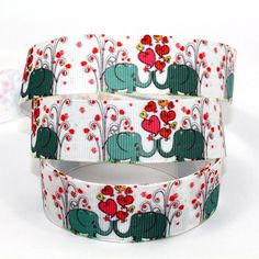 mdribbons 7/8' 50Yds/Roll Elephant Print Ribbon-For DIY Crafts Cheer Hair Bows Hair Clip Making,Home Party Decor Design 10 >>> You can find out more details at the link of the image.
