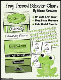 Frog Themed Behavior Chart from Johnson Creations on TeachersNotebook.com (8 pages)