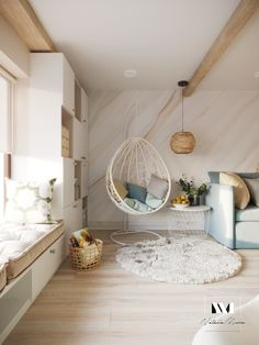Apartment Interior Design, Hanging Chair, My Room, Rooms, Furniture, Home Decor, Bedrooms, Homemade Home Decor, Home Furnishings