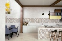 NEOLITICK Collection - COLORKER #colorker #kitchen #tiles #whitebody #stoneeffect #decor #interiors