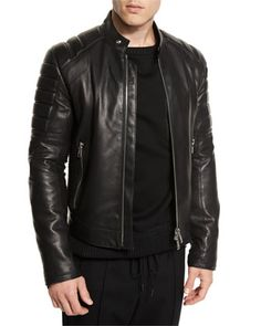 Leather+Quilted-Panel+Moto+Jacket+by+Juun+J+at+Neiman+Marcus.
