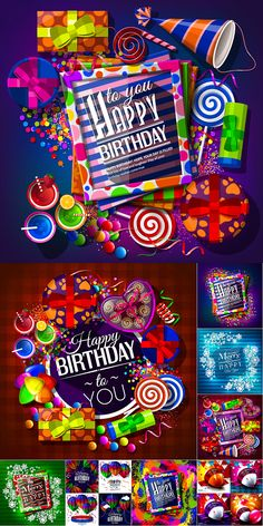 Блог Колибри: Happy birthday balloons concept vector Happy Birthday Balloons, It's Your Birthday, Merry, Concept, Holiday, Art, Art Background, Vacations, Kunst