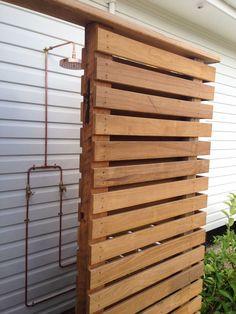 Australian hardwood outdoor shower