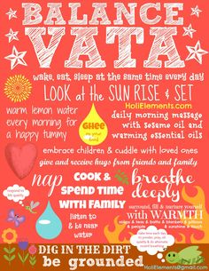 FREE POSTER: How a Skinny Vata Person Stays Balanced