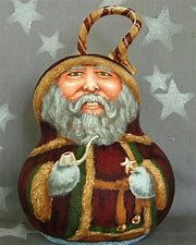 Image result for Hand Painted Santa Gourd Christmas Snowman, Christmas Ornaments, Hand Painted Gourds, Christmas Cartoons, Gold Ornaments, Gourd Art, Tole Painting, Folk Art, Original Paintings