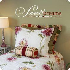 Sweet Dreams (Elegant Version) (wall decal from WallWritten.com).
