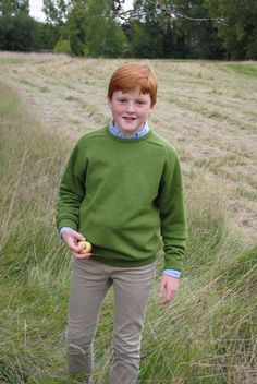 """Bonnie UK – Pure Lambswool Jumpers for Children. Made in Britain. No boy's wardrobe should be without one – a completely plain crew necked jersey, made of the softest lambswool. Great for everyday or for looking a """"bit tidier""""… Especially"""