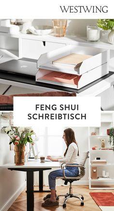 Mit Arbeit verbringen wir jede Menge Zeit. Träumst du davon, an einem aufgeräumten Schreibtisch effektiv und in aller Ruhe arbeiten zu können? Unser Tipp: Feng-Shui. Lass positive Energien zirkulieren — für Balance und Wohlbefinden! Feng Shui ist eine alte chinesische Lebensweisheit, laut welcher das Chi, eine lebenswichtige Energie, uns umgibt. Plane deinen Arbeitsplatz mit Feng Shui./Westwing Schreibtisch Arbeitszimmer nach feng shui einrichten Ideen Home Office Büro Ausrichtung Tipps 2021 Home Office, Entryway Bench, Design, Furniture, Home Decor, Clear Desk, Office Decor, Feel Better, Entry Bench