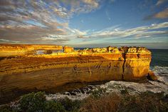 Photograph by Stuart Litoff.  Rock formations at the Bay of Islands along the Great Ocean Road in Australia