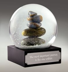 Personalized Carin Remembrance Waterglobe - Zoom