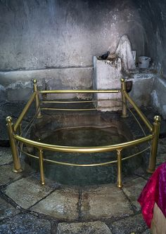 Water source which springs from the interior of the Sun Temple! The Yazidis use it as a Holy Water. Photographer: Eric Lafforgue