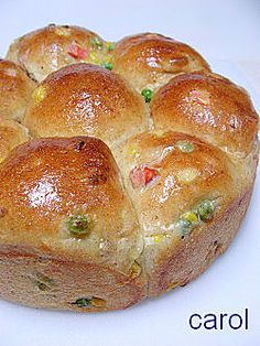 Mix Vege Wholemeal Bun - Carol 自在生活 : 三色蔬菜餐包