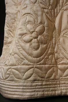18th C Quilted petticoat
