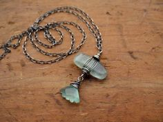 RESERVED Beryl Chrysoprase & Sterling Silver Wire by brendamcgowan