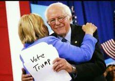 VOTE TRUMP.. Even Bernie knows she's an anchor for America. ; )