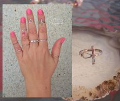 Silver Band Ring Criss Cross  eBay