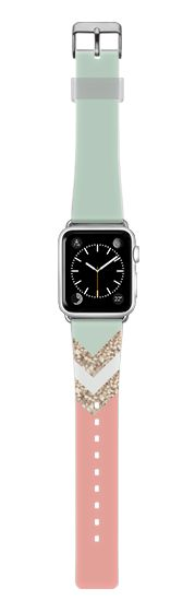Casetify Apple Watch Band (38mm) Saffiano Leather Watch Band - CORAL