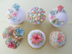 Vintage Cup Cakes  Cake by TraceyWheeler
