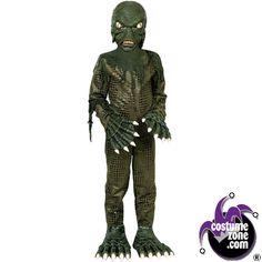 swamp monster costume boy child medium 8 10 scary child costumes - Halloween Scary Costumes For Boys