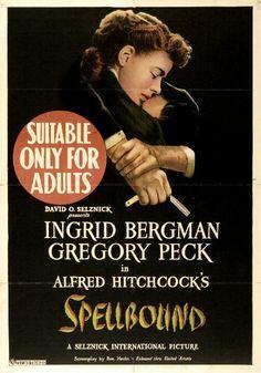 'Spellbound' 1945 #hitchcock I grid #bergman Gregory #peck