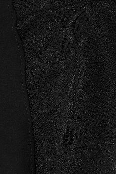 Commando - Love Lust Lace-paneled Stretch Boy Shorts - Black - S/M