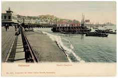 Valparaiso, Muelle pasajeros. Chile Collector Chile, Paris Skyline, Places, Travel, Vintage Postcards, Antique Photos, Boat Dock, Historical Photos, Viajes