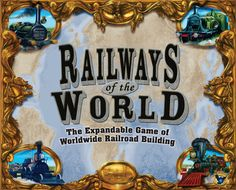 Railways of the World | Image | BoardGameGeek  This is probably my wife's favorite games. It is a really fun interactive game that I best with four or more players. You start with nothing and have to balance loans from the bank, extending your tracks, getting more powerful locomotives and delivering goods. Awesome game!