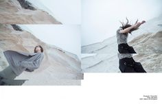 """Schön! // """"Landscape"""" // Polygon Tunic in Fog Sheer // Photography by Franey Miller // Styling by Beau Barela"""
