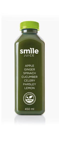 #butterflycomunicacio #packaging #detoxjuice #smile #juice #healty #detox Celery, Cucumber, Detox, Juice, Shampoo, Packaging, Organic, Apple, Bottle