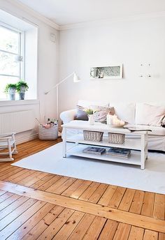 ikea, kniting, living room, llua, scandinavian, white