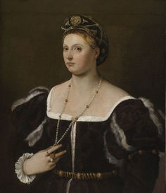 Image result for titian lady in striped dress