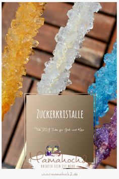 Zuckerkristalle züchten ⋆ Growing sugar crystals – DIY to make yourself and give away. Great gift idea to tinker with children. Also suitable as a DIY Christmas gift. Diy Jewelry Unique, Diy Jewelry To Sell, Diy Jewelry Holder, Diy Jewelry Making, Jewelry Crafts, Christmas Crafts To Sell, Diy Crafts To Sell, Handmade Crafts, Christmas Diy