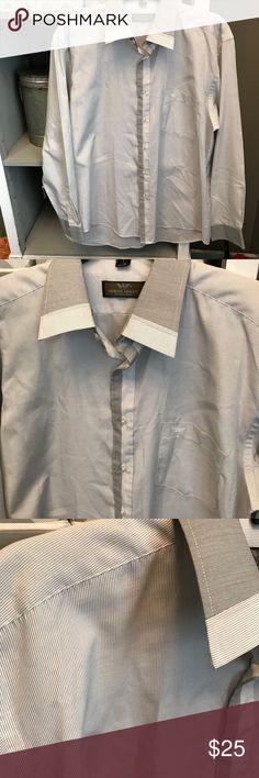 GIORGIO ARMANI MENS DRESS SHIRT! Great condition! With Pin Stripes Giorgio Armani Shirts Dress Shirts