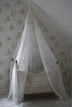 vintage cradle with netting - amaze-ba;;s!
